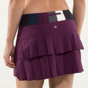 Lululemon Pace Setter Skirt, Size 4 Plum